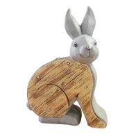 See more information about the Wooden Effect Solar Powered Rabbit Light