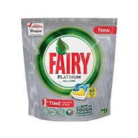 See more information about the Fairy All In One Dishwasher Capsules Lemon 63 Pack