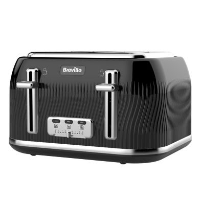Image of Breville Flow 4 Slice Toaster - Black