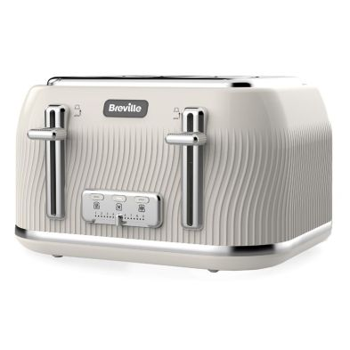 Image of Breville Flow 4 Slice Toaster - Cream