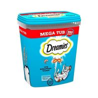 See more information about the Dreamies Salmon Cat Biscuits Tub 350g