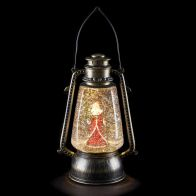 See more information about the LED White Animated Bronze Lantern With Santa Scene Ornament 23cm
