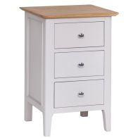 See more information about the Necton Oak Dove Grey 3 Drawer Large Chest