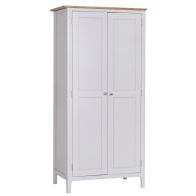 See more information about the Necton Oak Dove Grey 2 Door Wardrobe