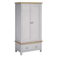 See more information about the Lucerne Oak Grey 2 Door 1 Drawer Gents Wardrobe