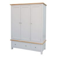 See more information about the Lucerne Oak Grey 3 Door 2 Drawer Triple Wardrobe