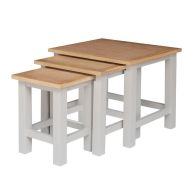 See more information about the Lucerne Oak Grey 3 Nest Of Tables