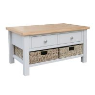 See more information about the Lucerne Oak Grey 2 Drawer Coffee Table