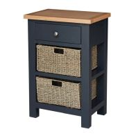 See more information about the Lucerne Oak Blue 1 Drawer Telephone Side Table