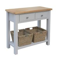 See more information about the Lucerne Oak Grey 2 Drawer Console Table
