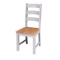 See more information about the Lucerne Oak Grey Dining Chair