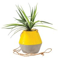 See more information about the Yellow Hanging Artificial Planter