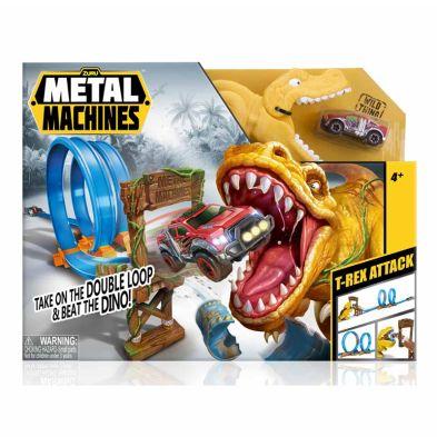 Metal Machines T-rex Attack Car Playset