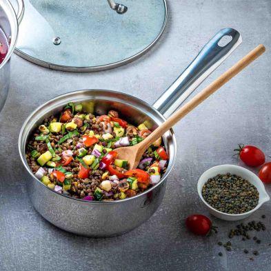 Cookware & Utensils 20cm Pyrex Master Stainless Steel Induction Saucepan & Lid