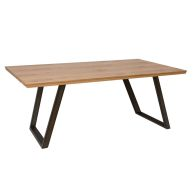 See more information about the Scandi Oak 1.4M Fixed Top Dining Table