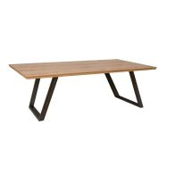 See more information about the Scandi Oak 2.2M Fixed Top Dining Table