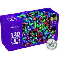 See more information about the 120 Multi Colour LED Christmas lights with a 2 year Guarantee