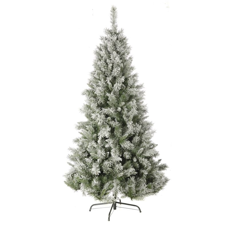 Christmas Tree Uk Online: Christmas Tree 1.80M (6Ft) Flocked Snow Princess Pine