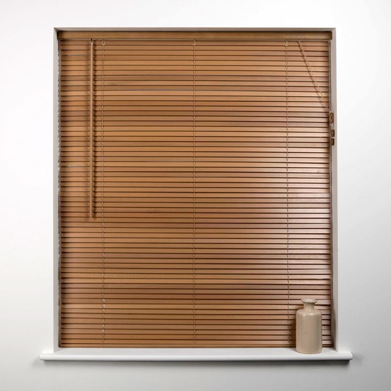 Universal 75cm x 27mm Slat Oak Wood Venetian Blind