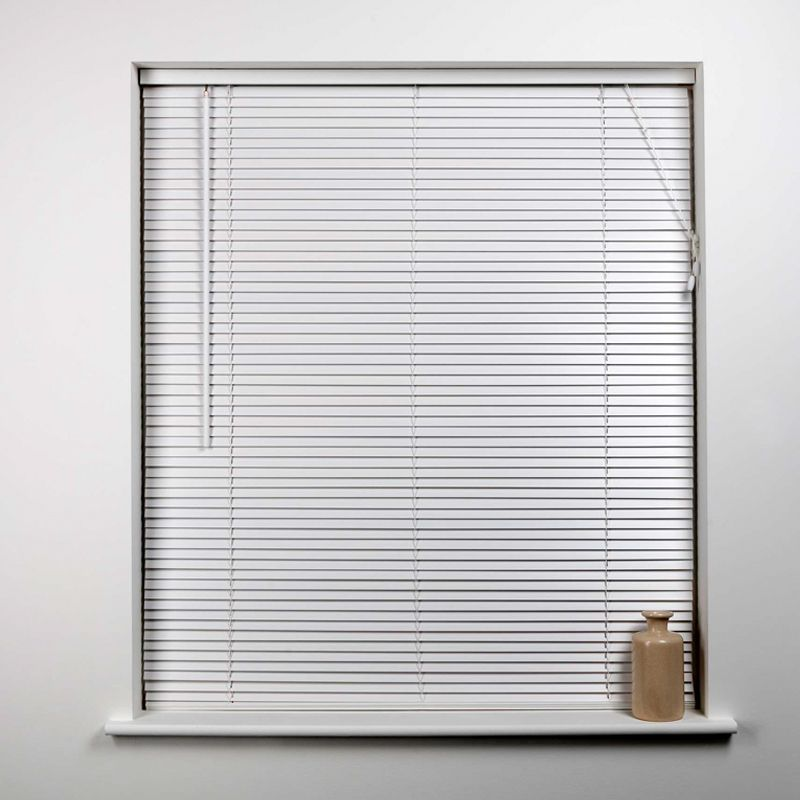 Universal 165cm x 27mm Slat Cream Wood Venetian Blind