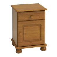 See more information about the 1 Drawer 1 Door Solid Pine Bedside Cabinet