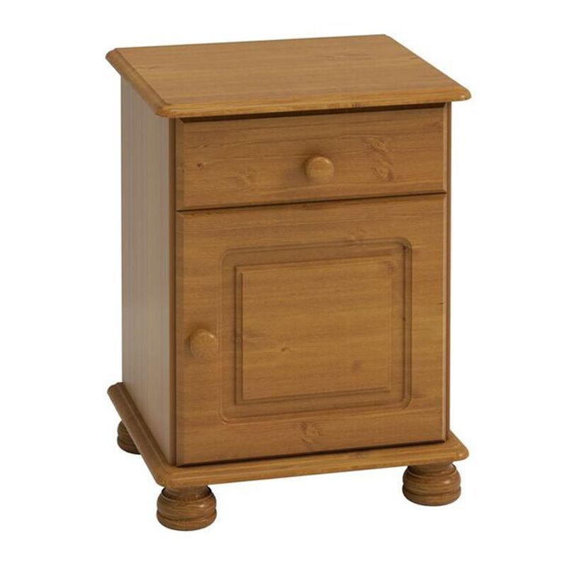 Barnaby Bedside Pine 1 Door 1 Drawer