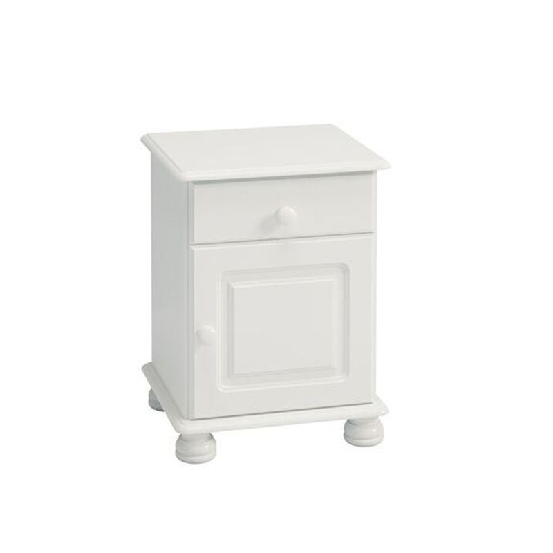 1 Drawer 1 Door White Contemporary Table Cabinet
