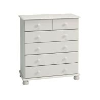 See more information about the 6 Drawer White Contemporary Bedroom Chest