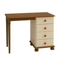 See more information about the Barnaby Dressing Table Cream & Pine 4 Drawer