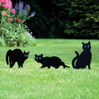 See more information about the Cat Shaped Garden Silhouettes Black 3 Pack