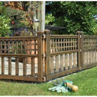 See more information about the Pack of 4 Bronze Fence Panels