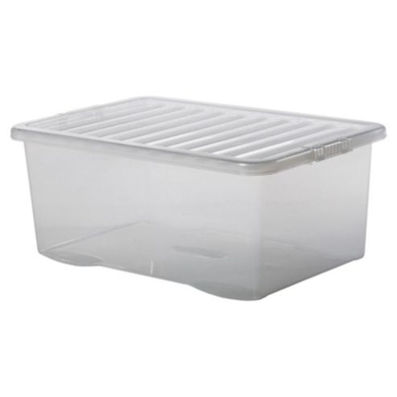 45L Premier Stacking Storage Clear Box & Lid