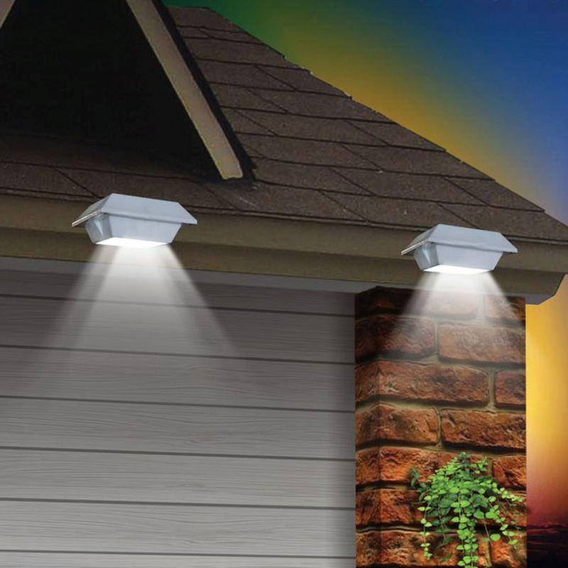 Solar Gutter Garden Lights White 2 Pack Buy Online At Qd