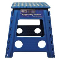 See more information about the Home Essentials Large Folding Stool - Blue With White Spots