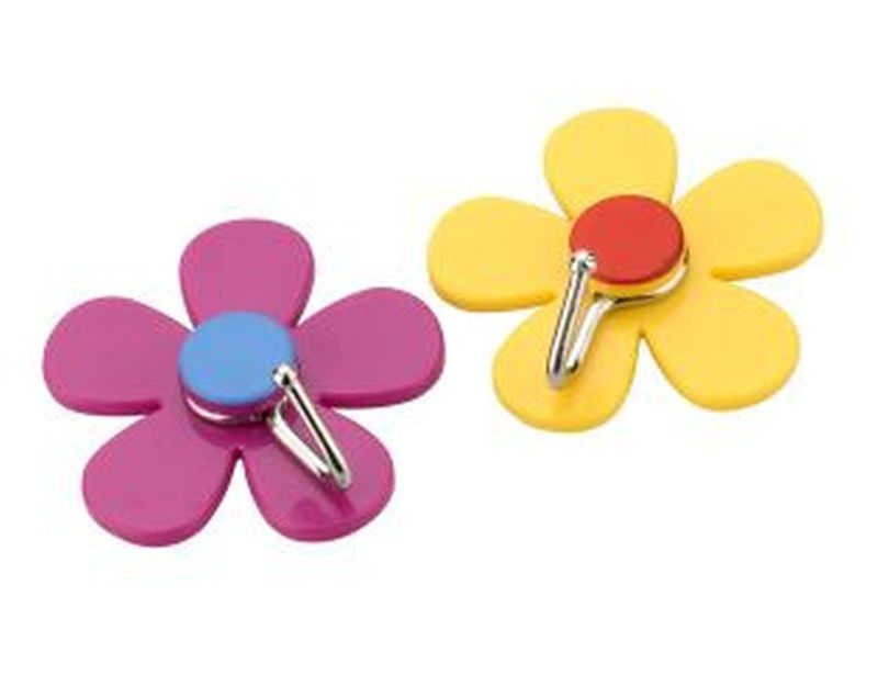 Flower Hooks 2 Pack - Purple & Yellow