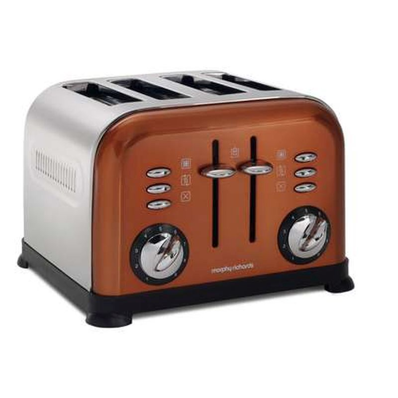 Slicwe Morphy Richards Toaster 4: Morphy Richards Accents Copper 4 Slice Toaster 44744