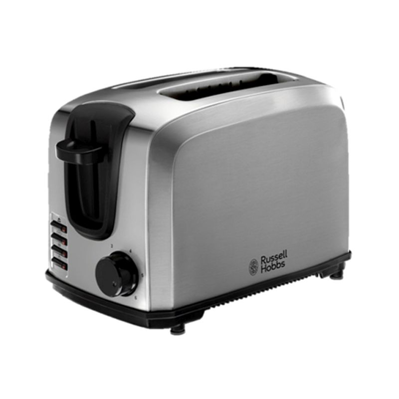 russell hobbs compact toaster 2 slice stainless steel buy online at qd stores. Black Bedroom Furniture Sets. Home Design Ideas