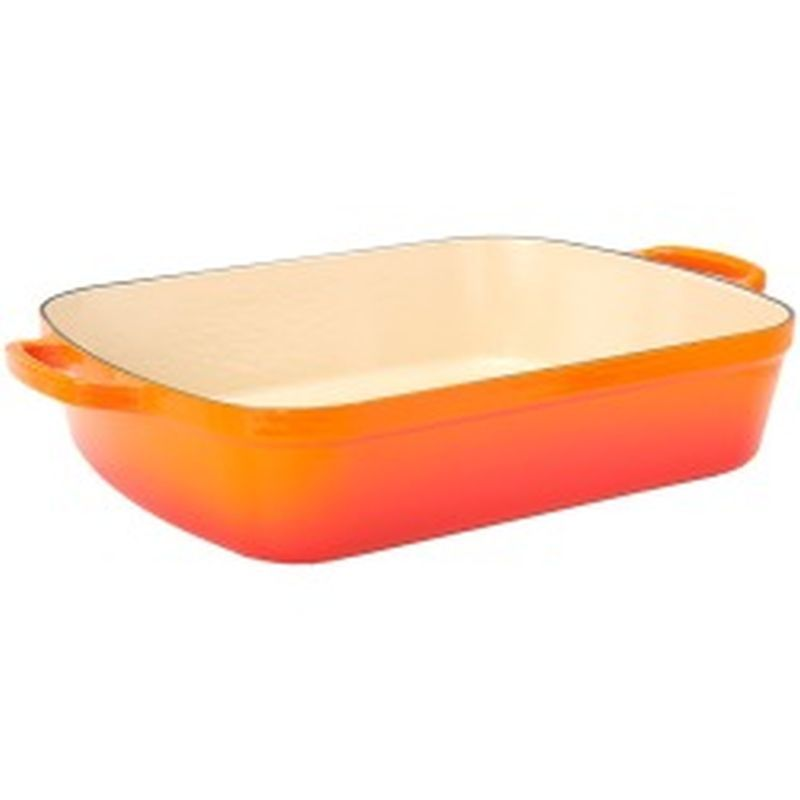 Large Rectangular Roaster - Orange