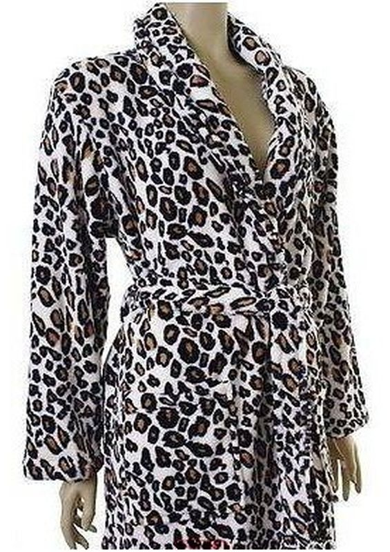 Leopard Dressing Gown Small - Buy Online at QD Stores
