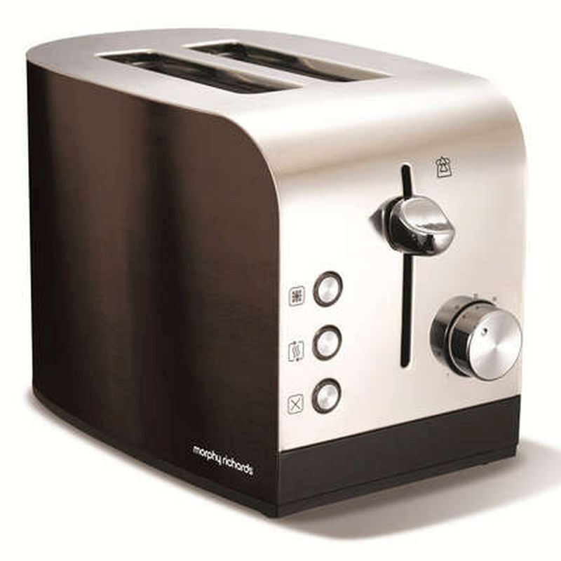Morphy Richards Accents Polished Black 2 Slice 44209