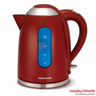 Image of Morphy Richards 1.7 Litre Accents Dome Kettle 3KW - Red