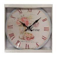See more information about the Wall Clock Classic Style Love Roses