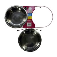 See more information about the Double Pet Diner Stand Dog Bowl Pink