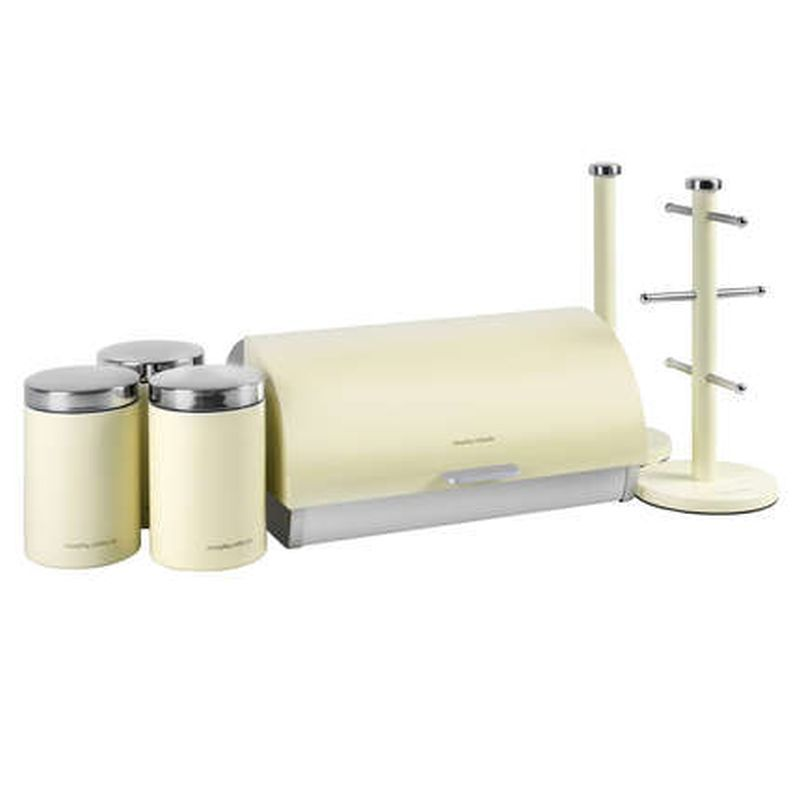 Morphy Richards Towel Pole: Morphy Richards 6pce Storage Set Cream 974103