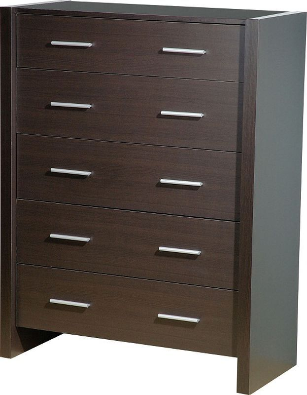 Denver 5 Drawer Chest - EXPRESSO BROWN