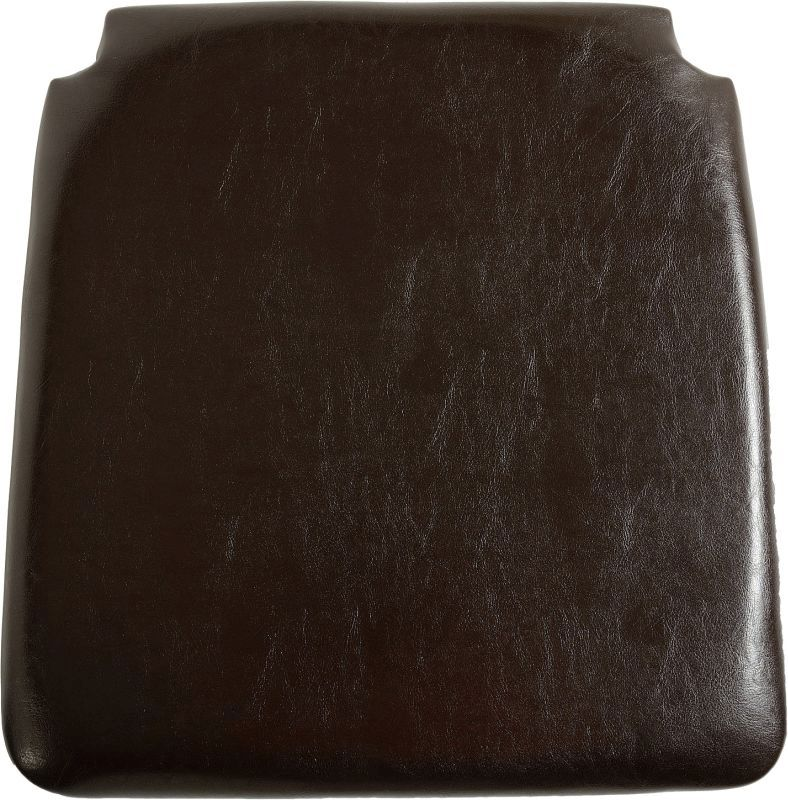 Faux Leather Seat Pad - EXPRESSO BROWN