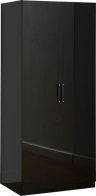 See more information about the Charisma 2 Door Wardrobe - BLACK GLOSS
