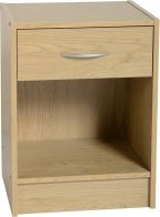 See more information about the Bellingham 1 Drawer Bedside Cabinet - BEECH