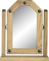 See more information about the Corona Single Swivel Mirror - DISTRESSED WAXED PINE