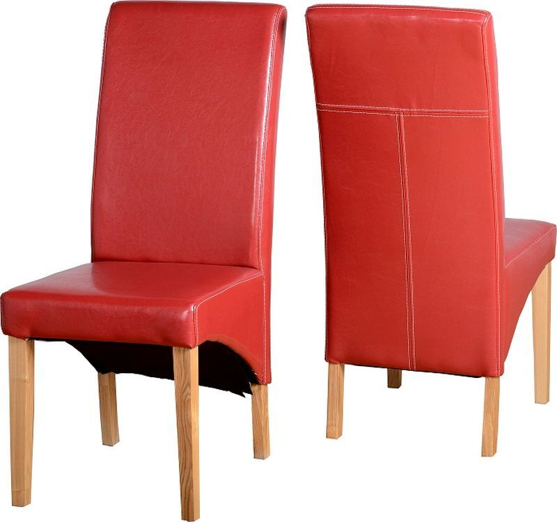 G1 Leather Style Dining Chair - RUSTIC RED